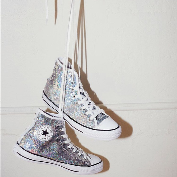 Converse Holographic Sequin High Tops